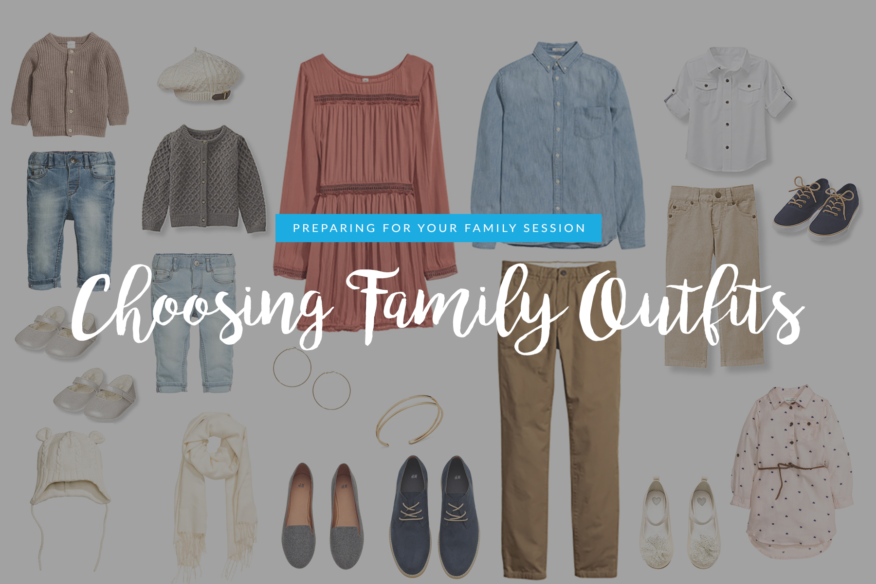 choosing family outfits for photos