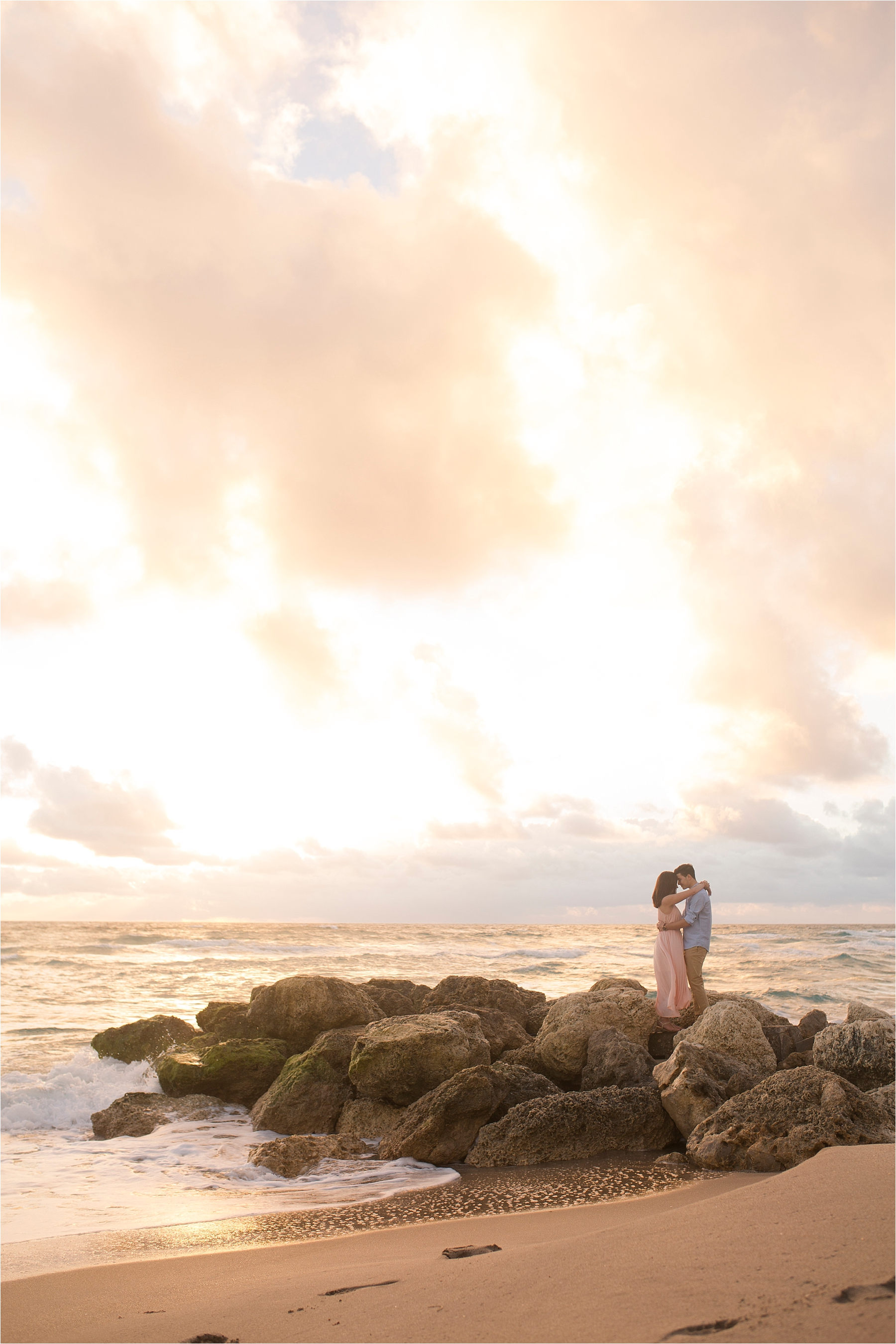 Sunrise beach engagements in palm beach