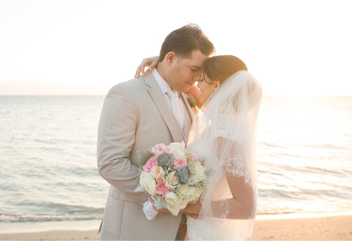 Romantic Beach Wedding Portraits