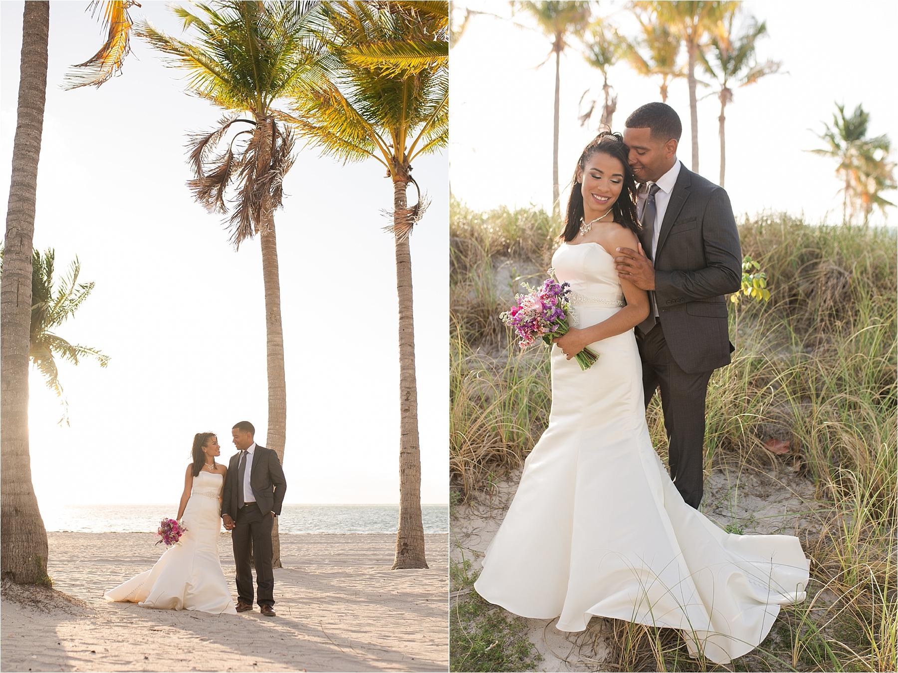 miami bride and groom beach portraits