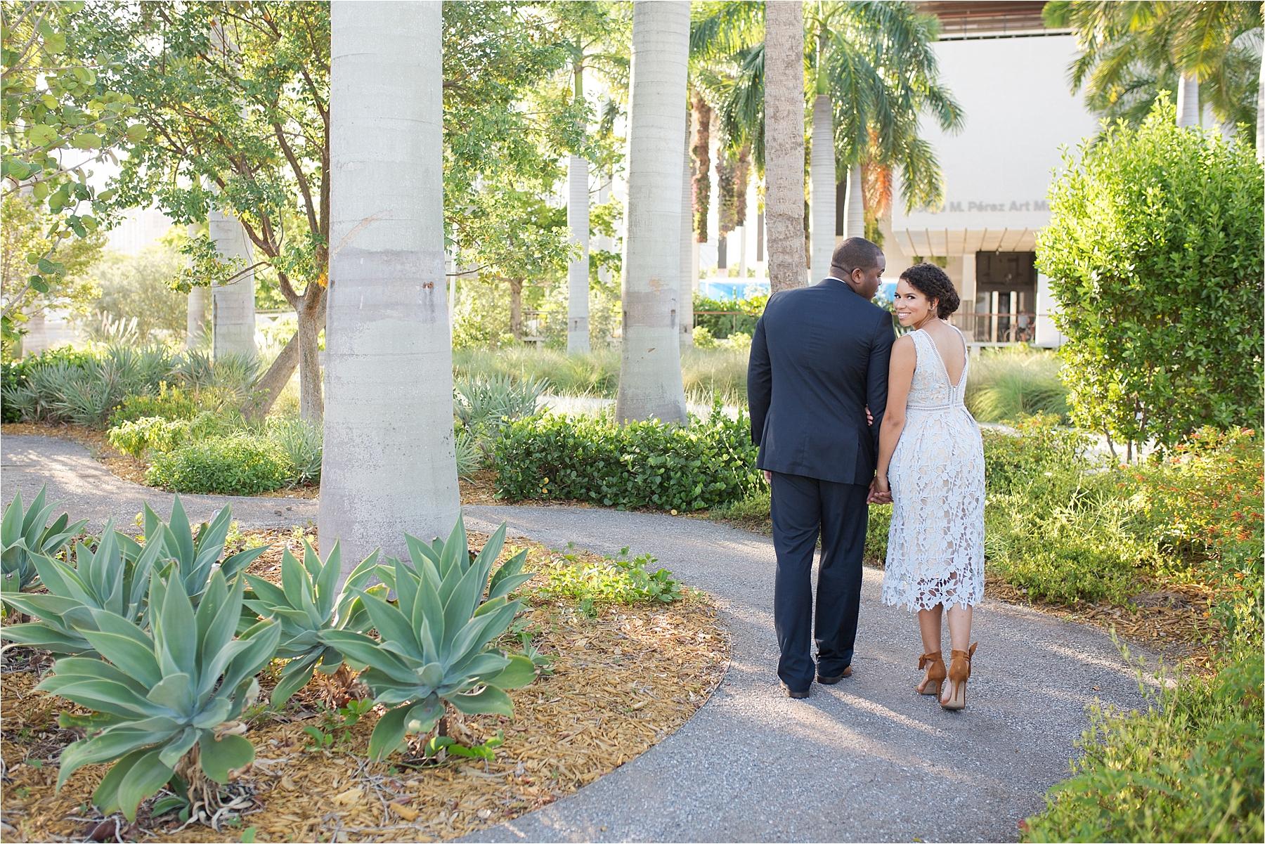 downtown miami engagement photos
