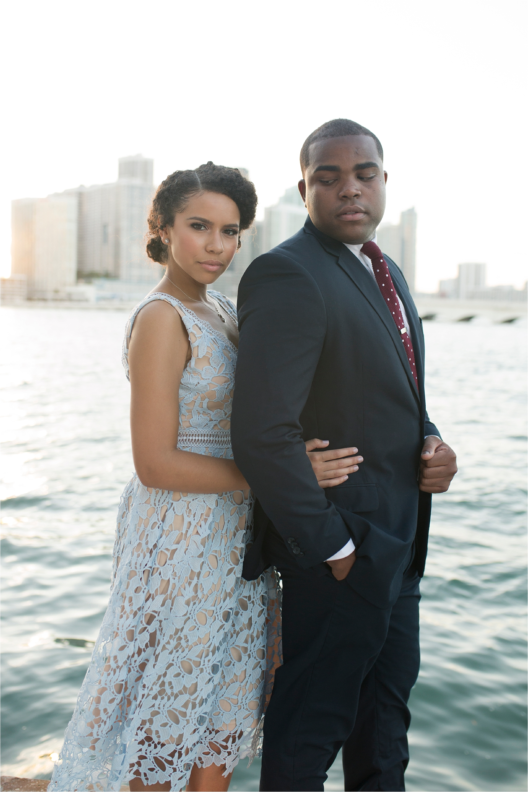 downtown miami engagement photos