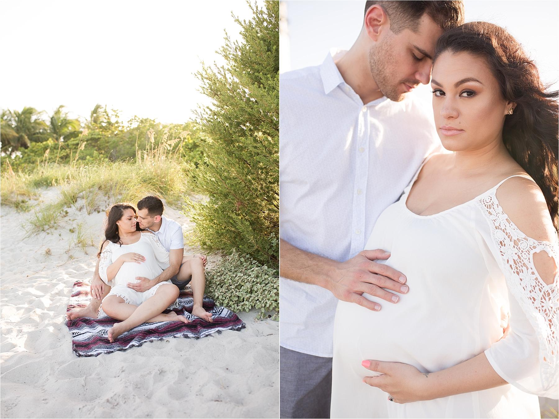 bill baggs beach miami maternity photography