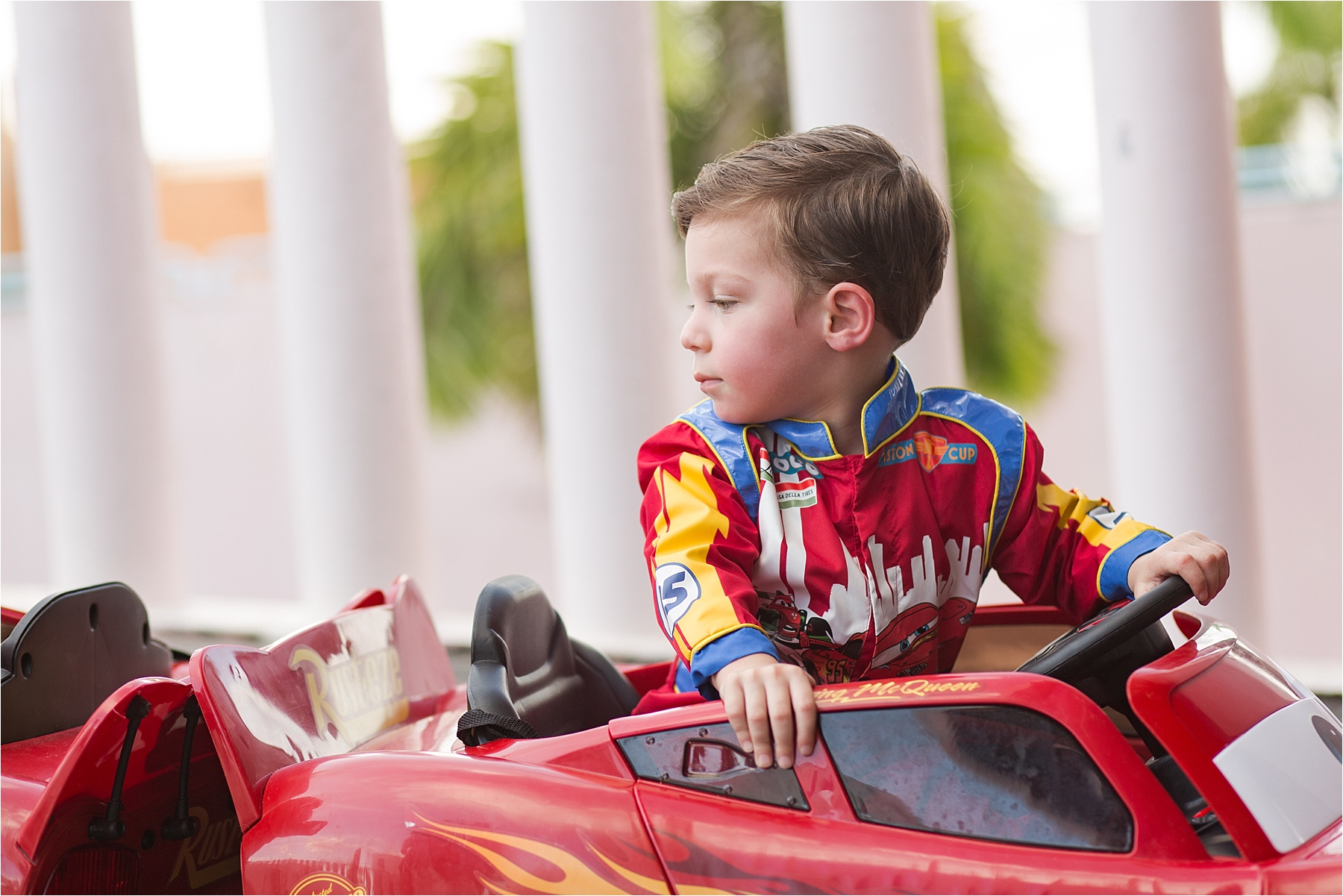 twin boys lightning mcqueen racecars racing suits